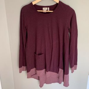 LOGO Lori Goldstein Purple Long Sleeve Top